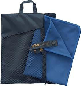 Sunland Asciugamano in Microfibra ultra compatto e molto leggera asciugamano palestra esercizio mano asciugamani 30cmx60cm 2 pezzi ardesia blu