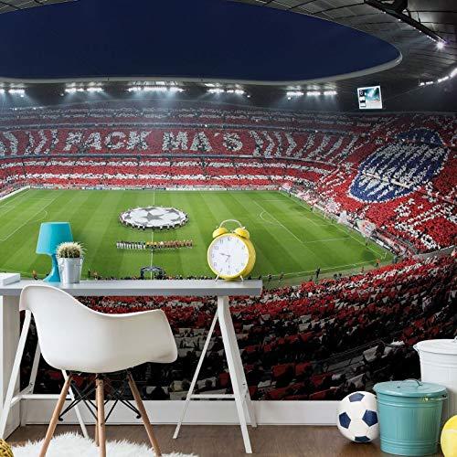 Fototapete Bayern München Stadion Choreo Pack Mas Vlies Tapete Fußball Bundesliga Sportverein Allianz Arena Fan Wappen Wall-Art 384x260 cm
