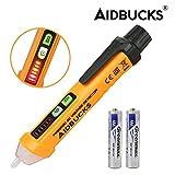 AIDBUCKS PM8908C Détecteur Testeur de Tension Sans Contact avec LED et Bip Sonore 12-1000V AC