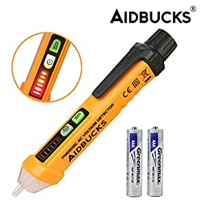 Senza Contatto Tester di Tensione AIDBUCKS PM8908C Penna Corrente AC Rilevatore di Misuratore Voltmetro con Rilevatore di Tensione Lampeggiante LED Indicatore 12-1000V