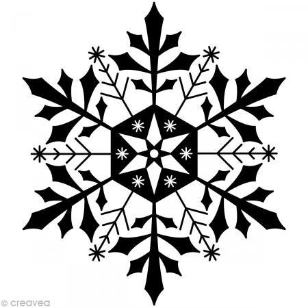Artemio Typ F Schneeflocken aus Holz Stempel (Stempel Schneeflocke)