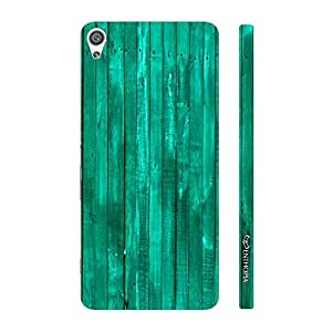 Enthopia Designer Hardshell Case Turquoise Wood Back Cover for Sony Xperia XA