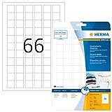 Herma 8831 Tintenstrahldrucker Etiketten quadratisch, Foto-Qualität (25,4 x 25,4 mm, DIN A4 Papier) weiß, 1.650 St., 25 Blatt, bedruckbar