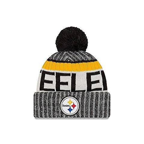 Pittsburgh Steelers New Era 2017 NFL Sideline On Field Sport Knit Hat Chapeau - Black