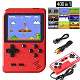 Etpark Handheld Game Console, Retro Mini Game Player with 400 Classical FC Games 2.8-Inch Color Screen Support for Connecting TV and Two players 800mAh Rechargeable Battery Present for Kids and Adult