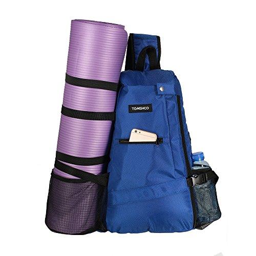 TOMSHOO Yogatasche Yoga Matte Tasche Rucksack Yogamattentasche für Hot Yoga, Pilates, Fitnessstudio