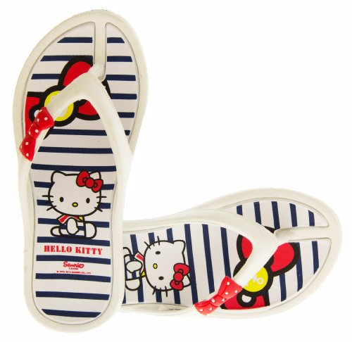 Hello Kitty Ingiro Bambina Infradito Sandali da Spiaggia Bianco