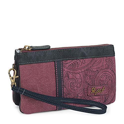 99cd5d0334 SKPAT - Portafoglio, portamonete, porta carte di credito per donna con  manico aggiuntivo,