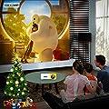 Artlii Pico Projecteur, Cadeau pour Enfants - Mini Vidéoprojecteur Portable Compatible Chromecast/Clé USB/Ordinateur/Console de Jeu, pour Jeux vidéo/Dessin Animé de Artlii