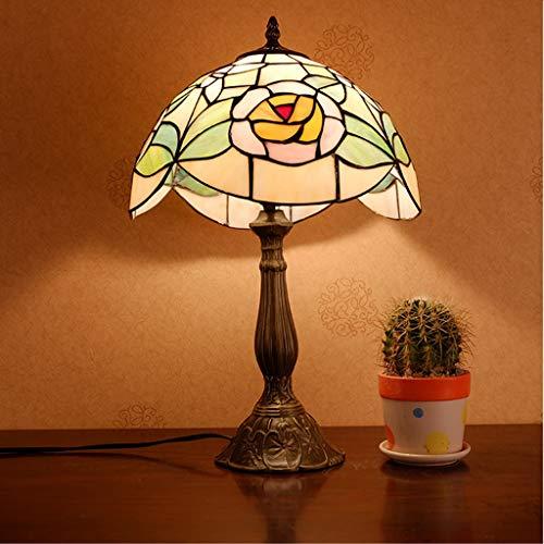 mmer förderung) einfache Moderne europäische Retro Glas Tiffany dekorative Beleuchtung tischlampe Wohnzimmer Schlafzimmer Studie Lampe (Größe : 30x48cm) ()