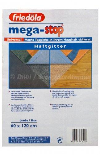 friedola Teppich Gleitschutz Mega-Stop Universal Haftgitter, Weiß, 60x120cm (I2/10/WJ2)