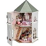 TOYMYTOY Casa de muñecas de madera Casa Miniatura DIY para San Valentín Navidad Regalo