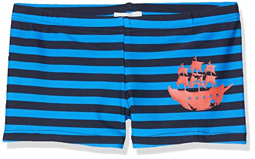 Sanetta Jungen Swim Trunks Badehose, Blau (Blue Marine 50285), 128 - Gestreift Trunk