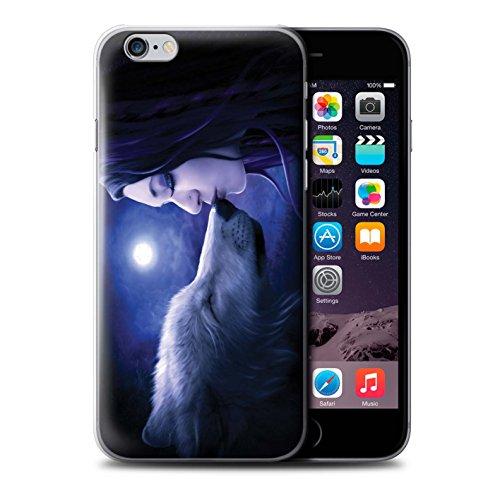 Officiel Elena Dudina Coque / Etui pour Apple iPhone 6S+/Plus / Éclaboussure Rouge Design / Un avec la Nature Collection Baiser de Lune