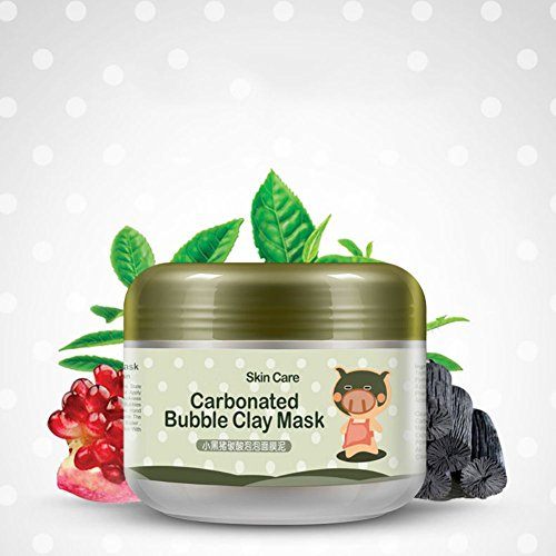 Nasen-maske Schaum (Cocohot Heißer Tiefenreinigung Ton-maske Kohlensäurehaltige Blase Anti-Akne Feuchtigkeitsspendende Gesichtsmaske)