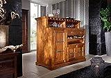 MASSIVMOEBEL24.DE Barschrank aus Massivholz im Kolonialstil Oxford Bar #0903 | 140x125x66