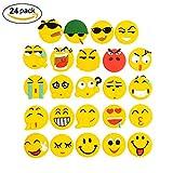 Calamite per frigorifero, magneti per il frigorifero bacheca Lanmuâ Emoji PVC smiley adesivo decorativo da cucina per lavagna bianca/armadietto per ufficio/scuola/Home Funny Gift (confezione da 24)