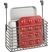mDesign Repisa Colgante – Práctico Estante para Cocina – Balda metálica para  Colgar en la Puerta c222aa5195f5