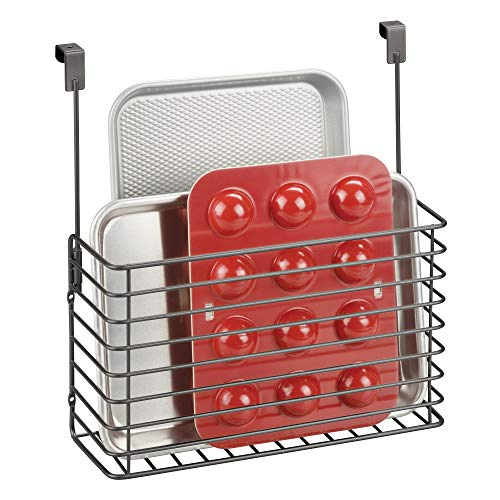 mDesign Küchenregal zum Hängen – praktischer Ordnungshelfer für die Küche – Küchenablage...