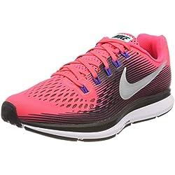 low priced 94637 7f9c9 Nike Wmns Air Zoom Pegasus 34, Zapatillas de Running para Mujer, Rosa (Solar