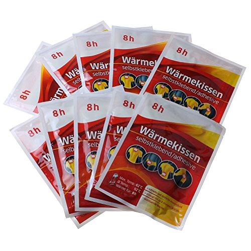 Preisvergleich Produktbild 10er Set Wärmekissen ( Stunden Wirkdauer Wärmepflaster Schmerzpflaster Wärmepads