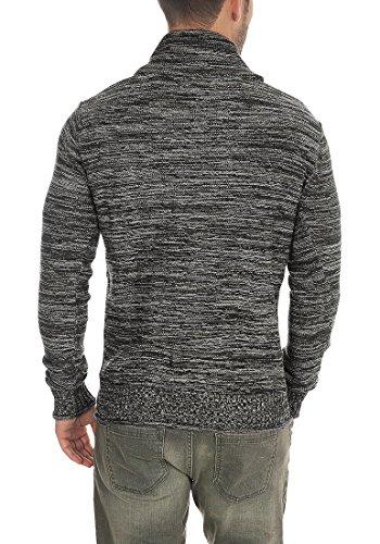 SOLID Herren Miles Shawl Pullover Strickpullover Grobstrick mit Schalkragen aus 100% Baumwolle Meliert Black (9000)