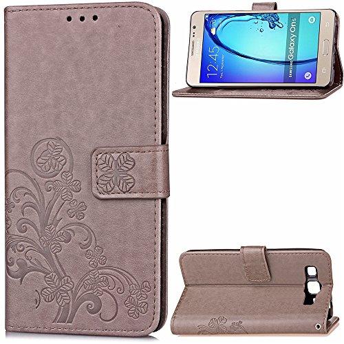 Altercase Samsung Galaxy ON5/O5/G550 Hülle, Kartenhalter Brieftasche Flip Case Geprägte Blumen-Baum PU Design Leder Schutzhülle für Samsung Galaxy ON5/O5/G550