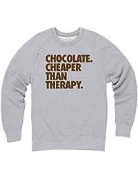Chocolate - Cheaper Then Therapy Sweatshirt mit Rundhals, Herren