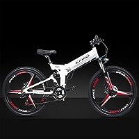ZPAO KB26 21 vélo électrique Pliant de Vitesse, Batterie au Lithium de 48V 10.4Ah, vélo de Montagne de 350W 26 Pouces, Assistance de pédale de 5 Niveaux, Fourchette de Suspension