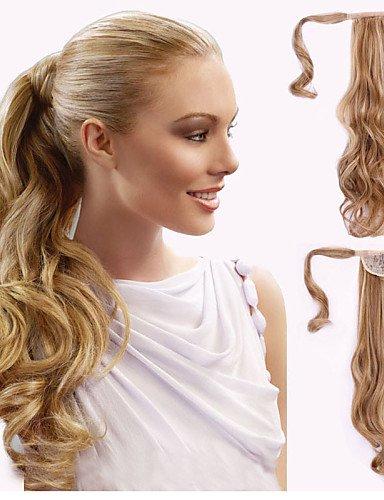 Perruque & xzl Perruques Fashion excellente qualité synthétique bouclés long clip de 18 pouces en queue de cheval postiche
