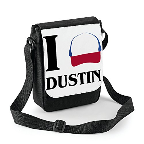 Mini borsa a tracolla Stranger Things I love Dustin - Dustin - serie tv - Bianco