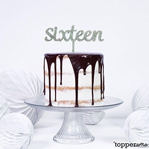 Topperama Decorazione Per Torta Di Compleanno Per 16 Anni Scritta