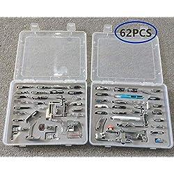 akldigital kit de 62pièces multifonctionnelles Pied de Biche pour machine à coudre kit Machines Set 62 pièces B