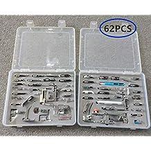 akldigital Kit de 62 Piezas Multifuncional Prensatelas Accesorios para Máquina de Coser Presser Foot Feet Kit
