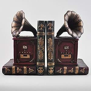 motif gramophone tag re range livres the hipster tude de bureau vintage de rangement pour cd. Black Bedroom Furniture Sets. Home Design Ideas