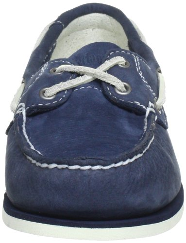 Timberland Classic Boat Unlined Boatnavy Barefoot Buffed, chaussures bateau femme Bleu (Navy)