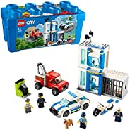 LEGO City Police Police Brick Box, 2in1 building set and 4 minifigures 60270
