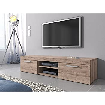 tv m bel lowboard schrank st nder mambo sonoma eiche hell. Black Bedroom Furniture Sets. Home Design Ideas