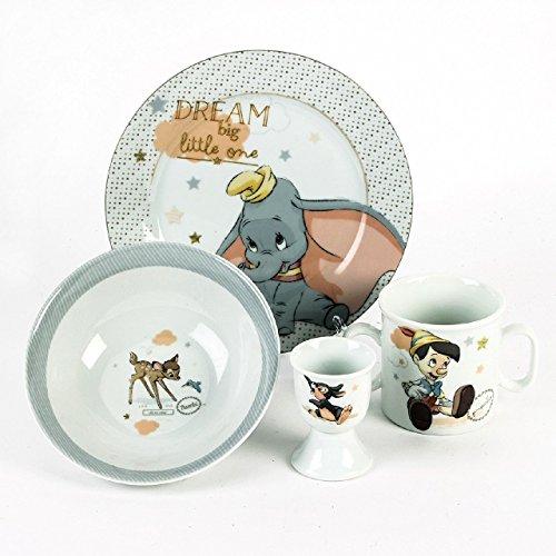 Disney Classic Magical Beginnings Ensemble cadeau en céramique (avec motifs de Dumbo, de Pinocchio et de Bambi)