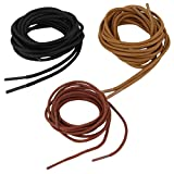 #9: Segolike 3 Pairs Round Replacement Boot Laces Shoelace, 120cm/47inch,3 mm