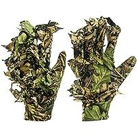 GUGUGULUZA - Guantes de camuflaje 3D para caza, caza, traje de camuflaje, guantes de camuflaje Woodland