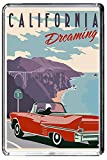 F312 CALIFORNIA DREAMING AIMANT POUR LE FRIGO USA VINTAGE TRAVEL PHOTO REFRIGERATOR MAGNET