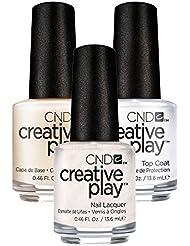 CND Creative Play Bridechilla Nr. 401 13,5 ml mit Creative Play Base Coat 13,5 ml und Top Coat 13,5 ml, 1er Pack (1 x 0.041 l)