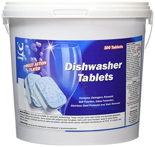 Preisvergleich Produktbild Cleenol 022221/100Geschirrspüler Tabletten (100Stück)