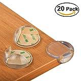 Nazzamo Premium Kantenschutz und Eckenschutz, 20 Stück Kanten transparent Schutz für Möbel- und Tisch-Ecken mit 3M Klebstoff - Stoßschutz für Baby's und Kinder