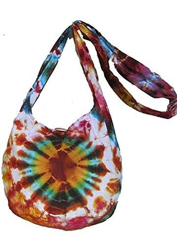 Tie Dye Shoulder Bag (SMALL Rust/Orange)