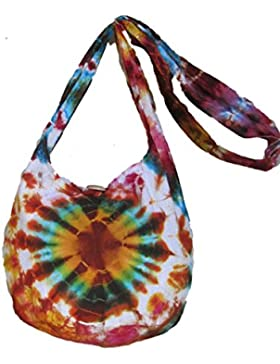 Tie Dye Bags , Damen Umhängetasche Orange orange H21 xW31 xD18 (drop inc strap 77cm)Aprox