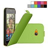 COOVY® Cover für Nokia Lumia 630/635 Slim Flip Case Tasche Etui inklusive gratis Displayschutzfolie | Farbe grün