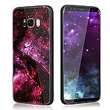 Schutzhülle für Samsung Galaxy S8,Slynmax Luxus Design Gemalter Stern-ausgeglichenes Glastelefon-Kasten Silikon Hülle Bumper Case Shockproof Ultradünn Metall Bumper Case Hart Gehärtetes Glas