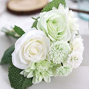 OQAJFQJA 1 Pieza Mezcla Y Combinación De Combinación Hermosa Novia Mano Flor Decoración De La Boda Dalia Filigrana…